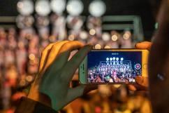 Willisau/LU, 01. FEBRUAR 2020 - 45 JAHRE WEGERE GUEUESSER: Impressionen Jubilaeumsfest 45 Jahre Wegere Guusser. Fasnachtsparty mit 20 Guggenmusiken auf dem Areal des Sportzentrums Schlossfeld. COPYRIGHT BY: THOMI STUDHALTER, www.studhalter.org